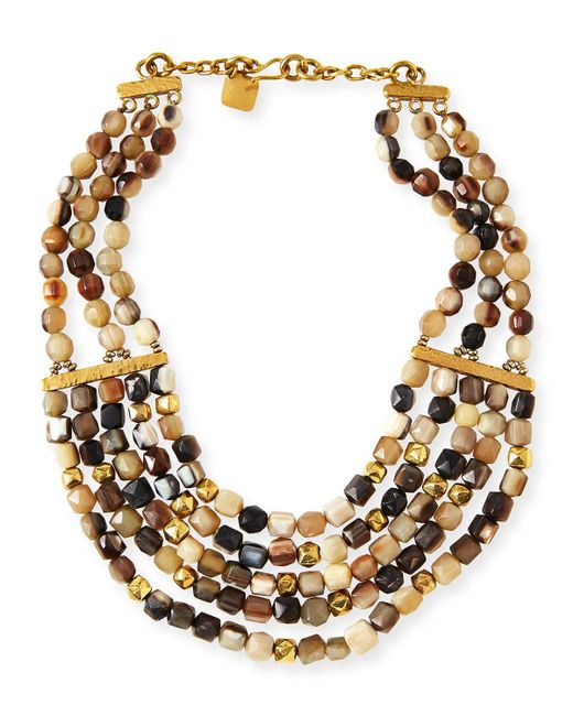 Ashley Pittman - Metallic Kubwa Multi-strand Necklace 21l - Lyst