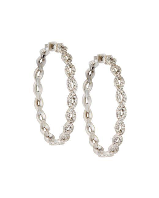 Penny Preville - Metallic 18k Infinity Diamond Hoop Earrings - Lyst