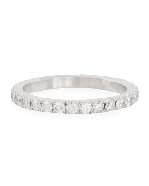Neiman Marcus - Metallic Platinum Diamond Eternity Band - Lyst