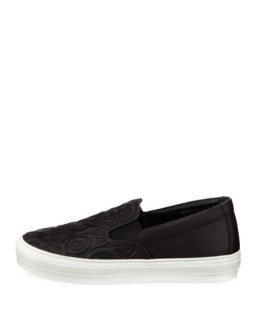 280d261c82 ... Ferragamo - Black Logo-embossed Platform Sneaker - Lyst ...