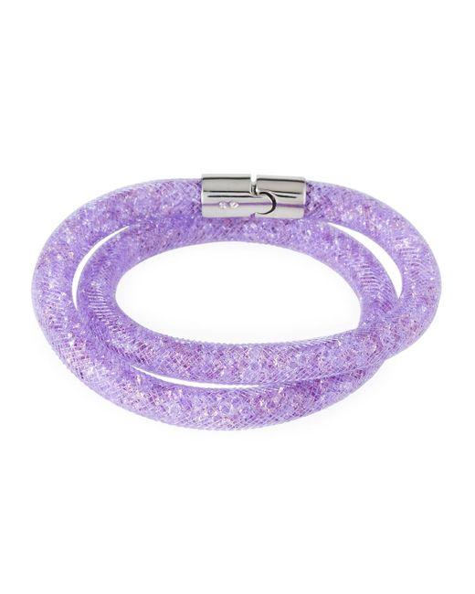 Swarovski | Purple Stardust Convertible Crystal Mesh Bracelet/choker | Lyst