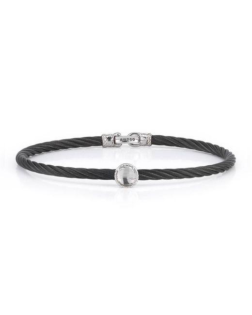 Alor - Multicolor Stainless Steel & Topaz Cable Bracelet Black for Men - Lyst