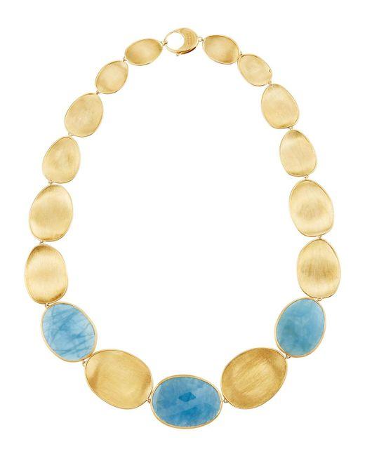 Marco Bicego - Metallic Lunaria 18k Gold Aquamarine Small Collar Necklace - Lyst