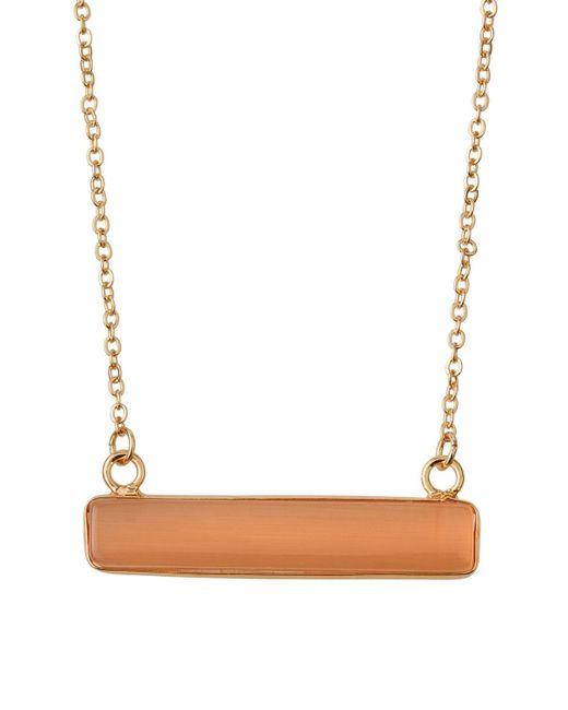 Panacea - Multicolor Champagne Cat Eye Rectangular Pendant Necklace - Lyst