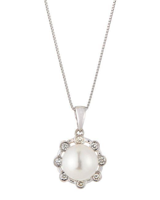 Belpearl | Multicolor Akoya Pearl & Diamond Pendant Necklace | Lyst