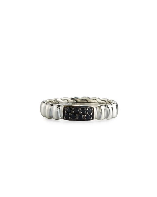 John Hardy - Black Bedeg Lava Slim Band Ring Size 7 - Lyst