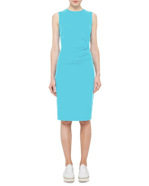 Akris Punto | Blue Ruched-side Sleeveless Dress | Lyst