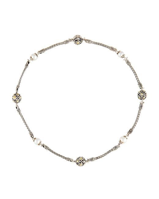 John Hardy - Metallic Dot Beaded Wrap Necklace - Lyst