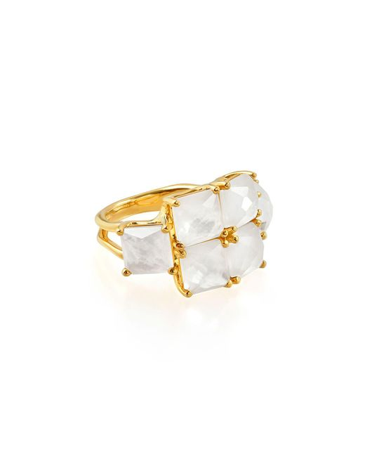 Ippolita - Metallic 18k Rock Candy® Square Six-stone Ring In Mop Doublet - Lyst