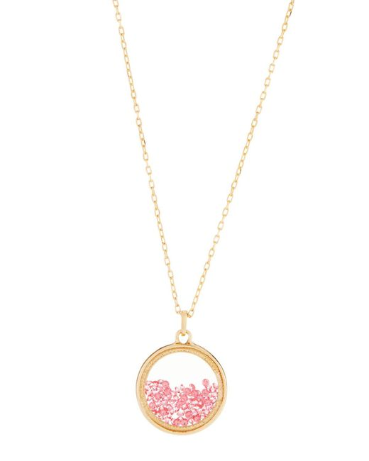 Lydell NYC - Multicolor Dark Fuchsia Round Shaker Pendant Necklace - Lyst