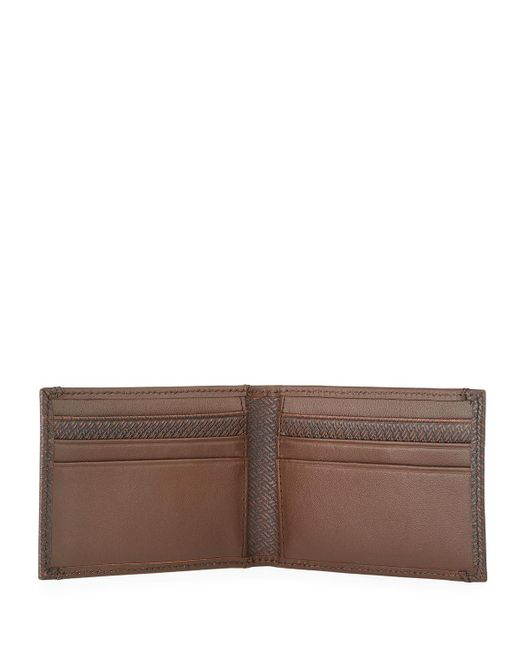 7c827121c921 ... Neiman Marcus - Black Men s Front-pocket Leather Bi-fold Wallet for Men  ...