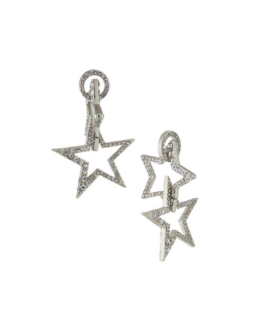 Lydell NYC   Metallic Double-sided Star Drop Earrings   Lyst