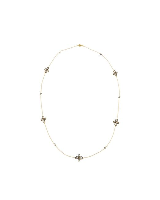 Freida Rothman - Metallic Long Pave Clover Station Wrap Necklace - Lyst