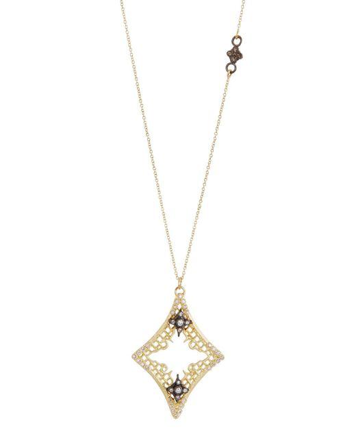Armenta | Metallic Old World Diamond Mesh Cravelli Pendant Necklace | Lyst