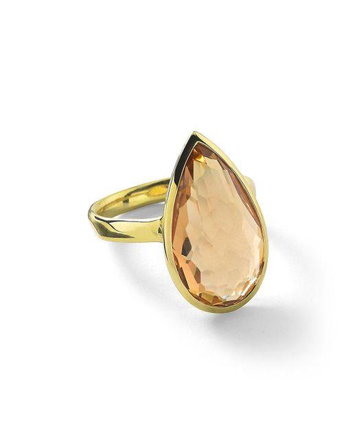 Ippolita - 18k Rock Candy Single Medium Teardrop Ring In Orange Citrine - Lyst