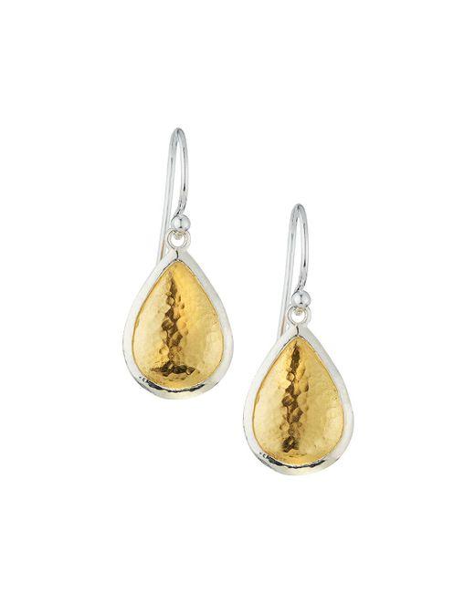 Gurhan - Metallic Amulet Two-tone Teardrop Earrings - Lyst