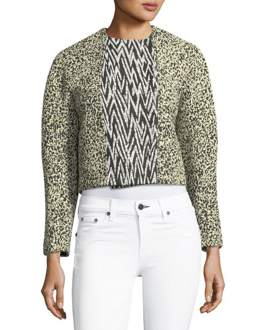 Proenza Schouler - Black Double-breasted Cropped Jacket - Lyst