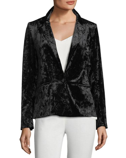 Neiman Marcus - Black Crushed Velvet Blazer - Lyst