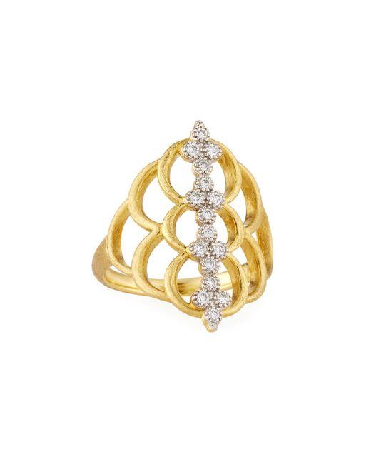 Jude Frances | Metallic Moroccan 18k Diamond Center Ring | Lyst