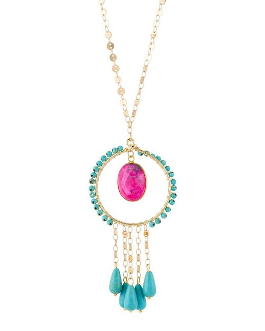 Panacea - Metallic Stone & Dangles Pendant Necklace - Lyst