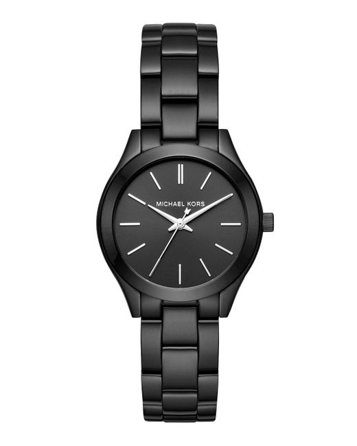 MICHAEL Michael Kors | Black 33mm Mini Slim Runway Bracelet Watch for Men | Lyst