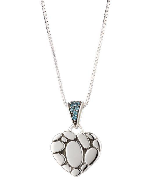 John Hardy - Kali Lava Heart Pendant Necklace W/ Blue Topaz - Lyst