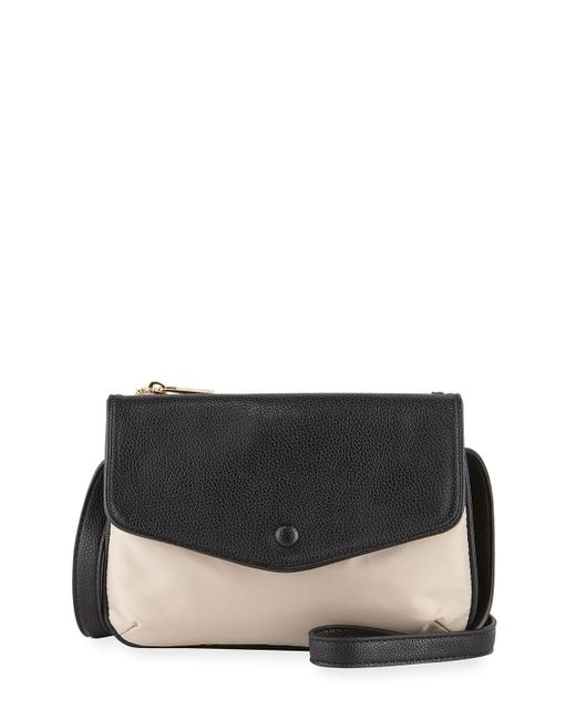 Neiman Marcus | Black Marni Fold-over Nylon Crossbody Bag | Lyst