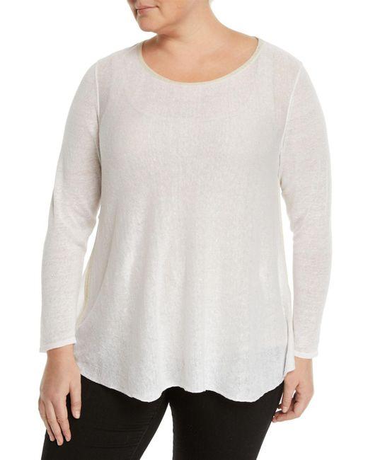 Lafayette 148 New York - White Bateau Sequin-collar Sheer Sweater - Lyst