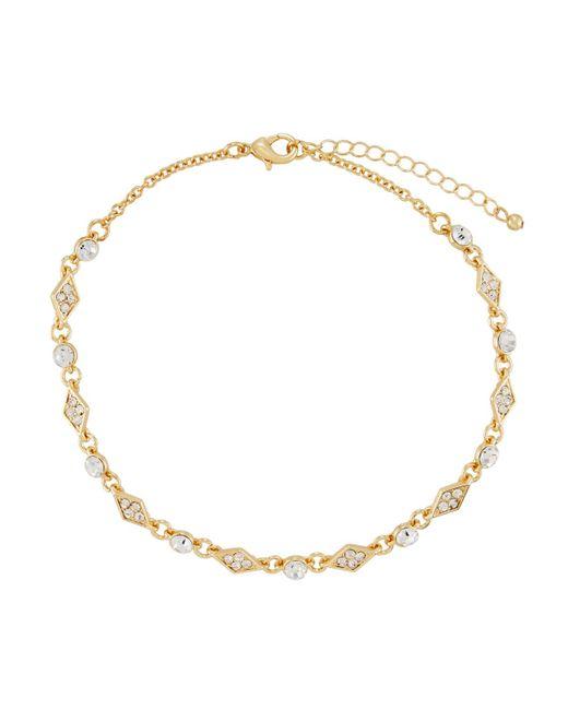 Fragments | Metallic Crystal Choker Necklace | Lyst
