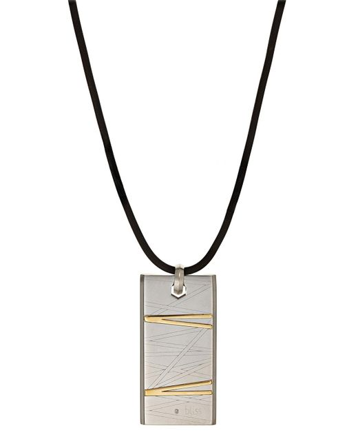 Damiani | Metallic Stainless Steel Flash Pendant Necklace W/ Diamond | Lyst
