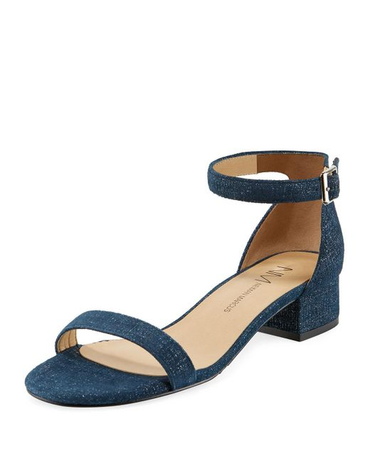 Neiman Marcus - Blue Hekla Denim D'orsay Sandal - Lyst