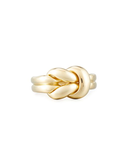 Roberto Coin - Metallic 18k Gold Knot Ring - Lyst