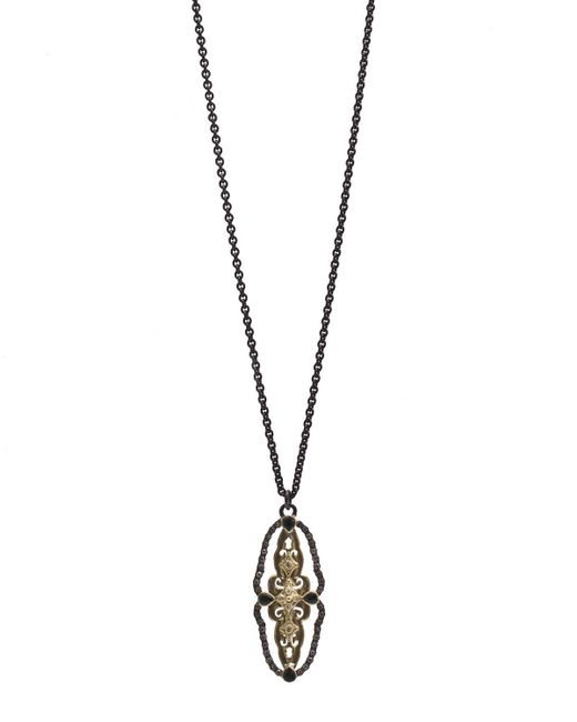 Armenta | Metallic Old World Scalloped Tourmaline & Diamond Pendant Necklace | Lyst