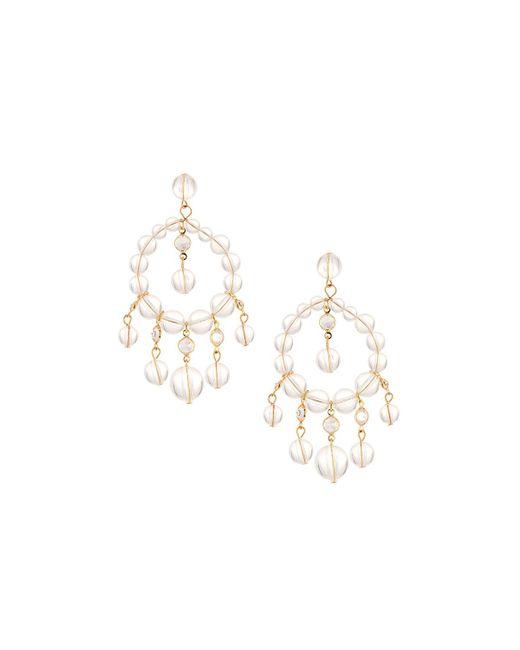 Fragments - Metallic Lucite® & Crystal Chandelier Earrings - Lyst