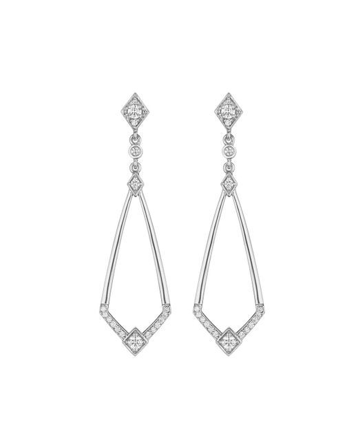 Penny Preville | Metallic 18k Diamond Deco Drop Earrings | Lyst