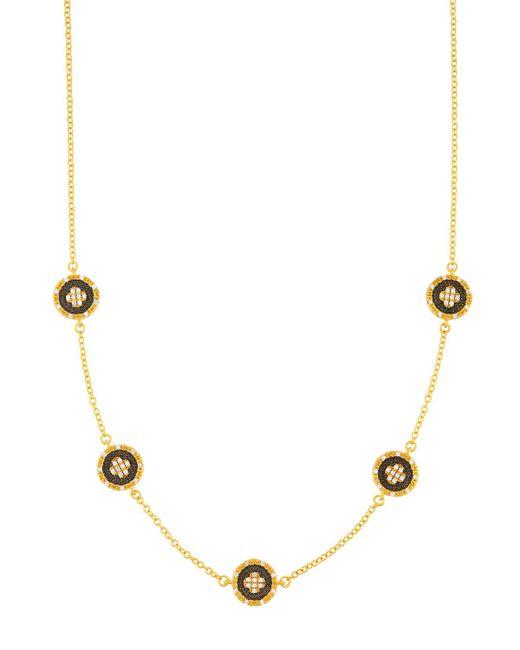 Freida Rothman - Multicolor Short Medallion Clover Station Necklace - Lyst