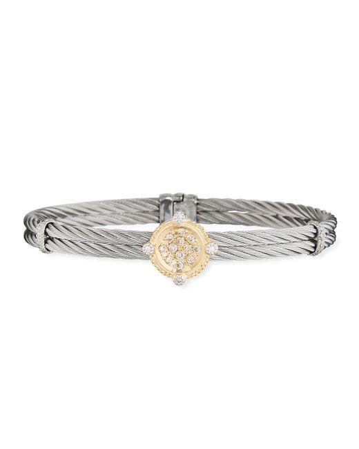 Alor - Multicolor Classique Diamond Disc Bangle - Lyst