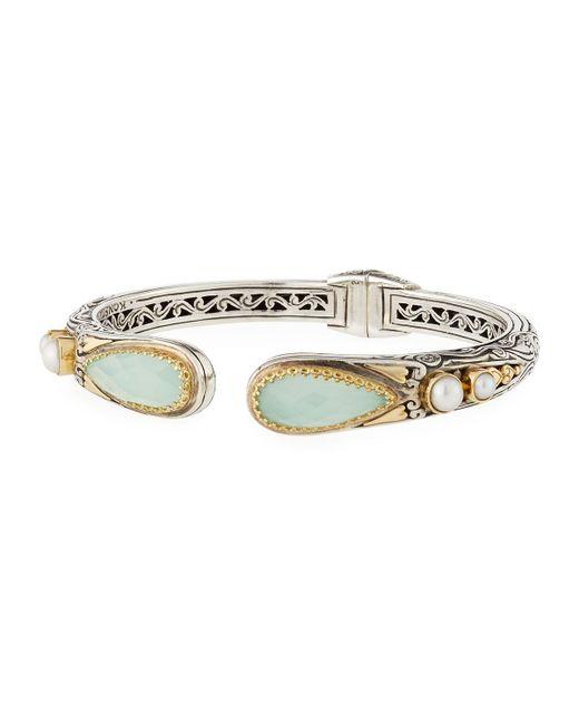 Konstantino   Sea Blue Agate-tip Hinge Bracelet   Lyst