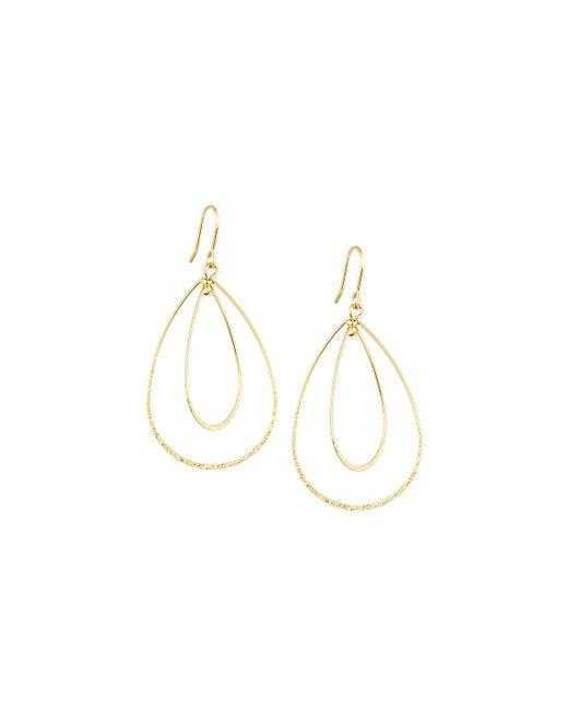 Panacea | Metallic Golden Double-teardrop Earrings | Lyst