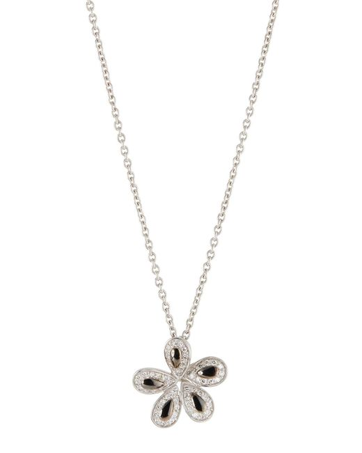 Roberto Coin - Metallic 18k Fantasia Diamond Flower Pendant Necklace - Lyst