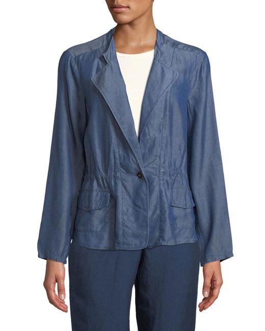 NIC+ZOE - Blue Femme Chambray Jacket - Lyst