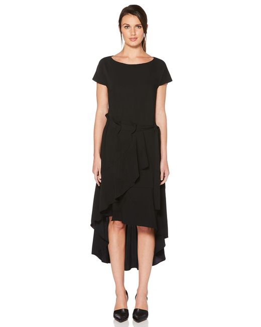 Laundry by Shelli Segal - Black Asymmetrical High-low Dress - Lyst