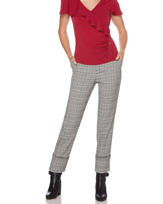 Laundry by Shelli Segal - Black Plaid Pant - Lyst