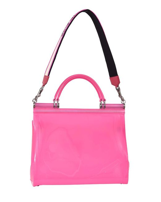 dd25142c8f6e Lyst - Dolce   Gabbana Sicily Bag Pink Rubber in Pink