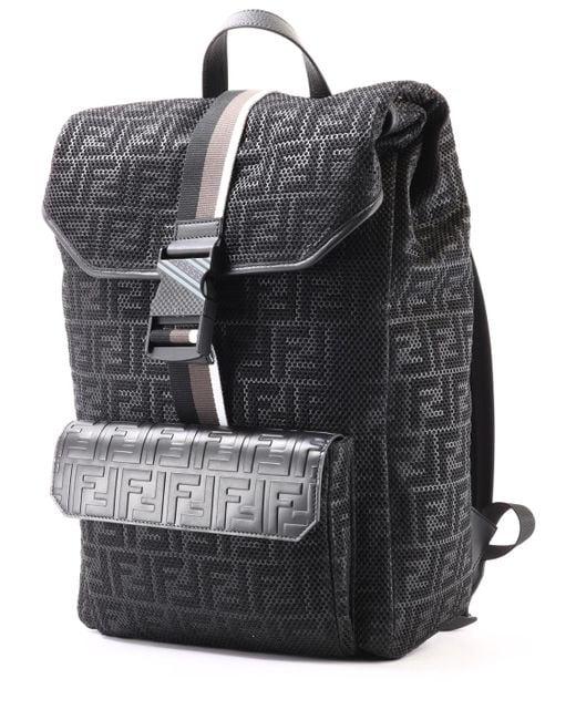 9d89cd7d2e86 Fendi Backpack Black in Black for Men - Lyst