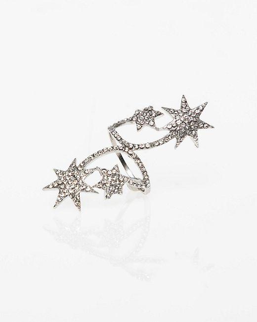 Le Chateau - Metallic Star Gem Ring - Lyst