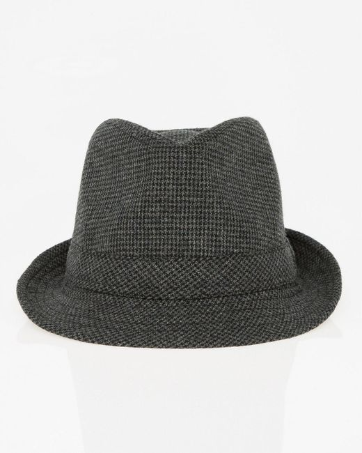 Le Chateau - Multicolor Houndstooth Wool Blend Fedora Hat for Men - Lyst