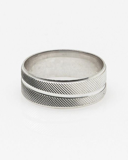 Le Chateau - Metallic Silver Ring for Men - Lyst