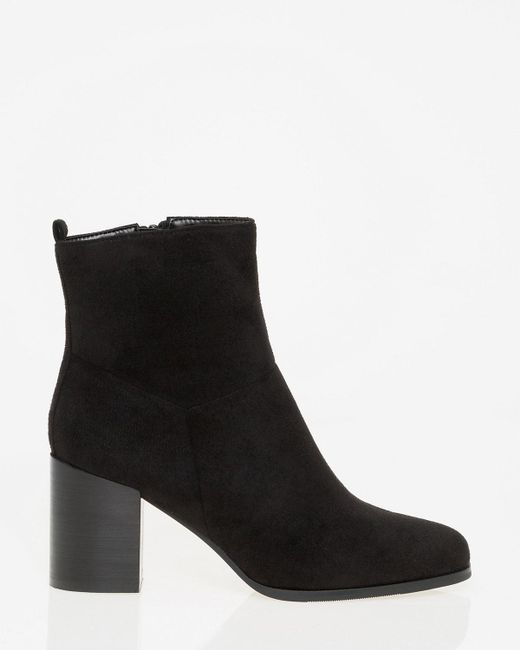 Le Chateau - Black Square Toe Ankle Boot - Lyst