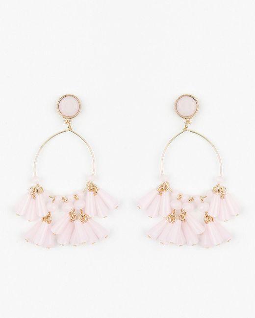 Le Chateau - Pink Cabochon Gem Chandelier Earrings - Lyst